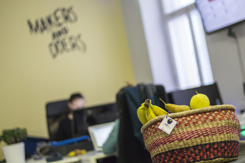 Refrenshing Fruitkit at Holvi office