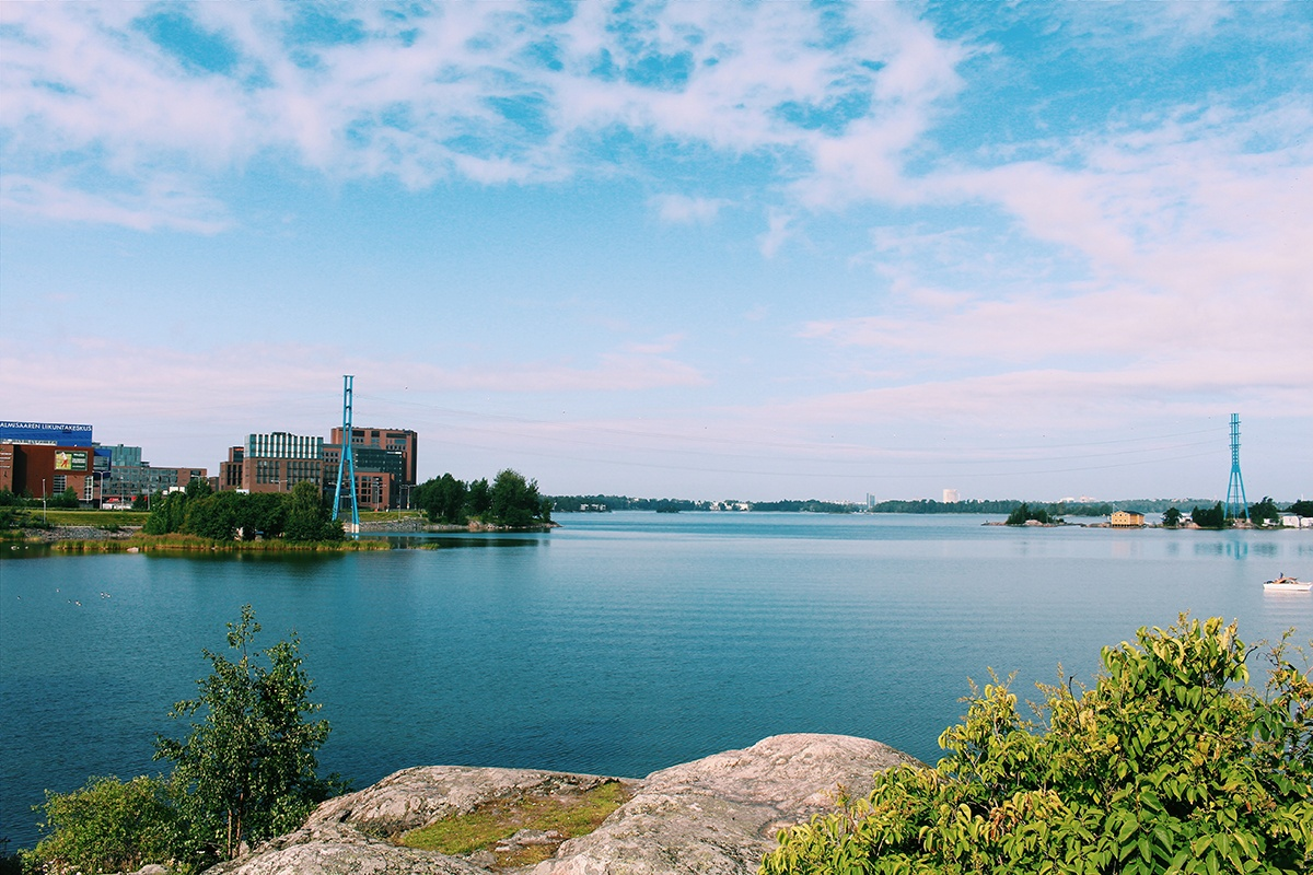 The view behind the hospital to Lapinlahti bay and Ruoholahti is amazing.